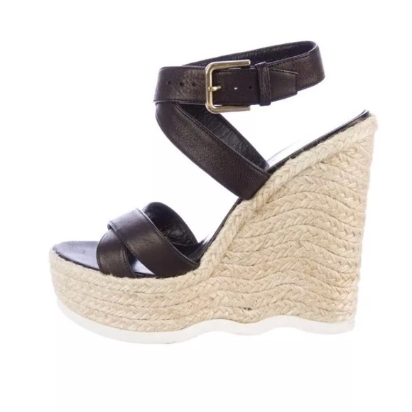 2e5ca63f1390 Yves Saint Laurent espadrille Malo wedge 37.5. M 5b56483a12cd4a54632371b5